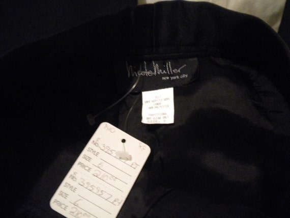 I Don't Want to Wear a Dress on New Year's NICOLE MILLER Vintage Tuxedo Pants NWT Size 6