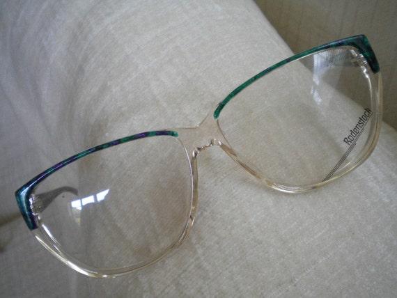Marbleized Green, Royal Blue and Purple RODENSTOCK Vintage Eyeglass Frames