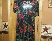 SALE was 30.00  Vintage colorful floral sequin dress