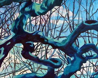 Plane Trees of Albi France Fine Art Landscape Painting