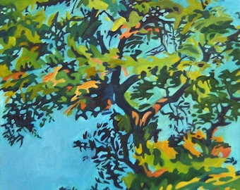 Live Oak Leaves Fine Art Original Oil Painting