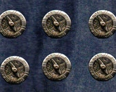 French Compass Buttons - Nord, Sud, L'ouest Est