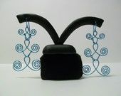Ice Blue Celtic Inspired Dangle/Chandelier Earrings