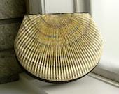 Golden Shell vintage clutch purse