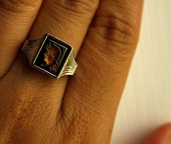 RESERVED for Britney Centurion ring by Sarah Coventry vintage adjustable
