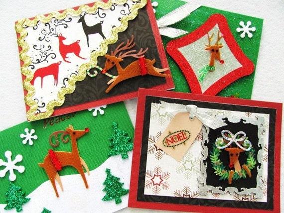Reindeer Xmas - (Set of 4)
