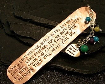 Personalized Hand Forged Copper Bookmark