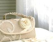 SALE. Phone wallet - type 2 - in oatmeal flower