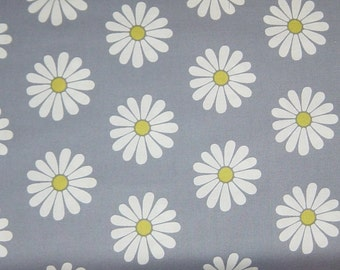 SALE - Daisy Doodle Oopsie Daisy in Gray - 1 yard - Michael Miller Fabric