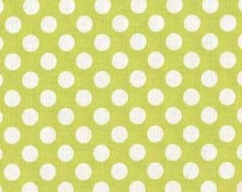 Ta Dot in Lime - 1 Yard - Michael Miller Fabric