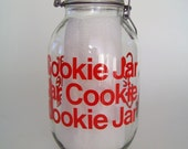 Carlton Glass Cookie Canister