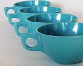 Set of 6 AQUA Melamine Coffee Cups