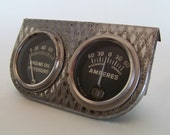 ON 24-HOUR HOLD Vintage Amperes Oil Pressure Gage