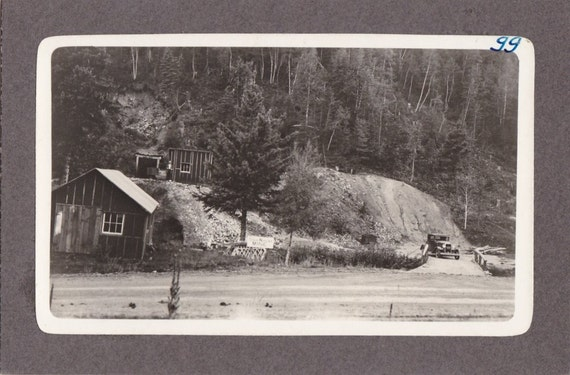 Vintage 1930's Photograph of a Gold Mining Entrance