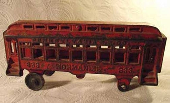 Nycrr Cast Iron Train: Items Similar To Cast Iron Passenger Train Car Normandie
