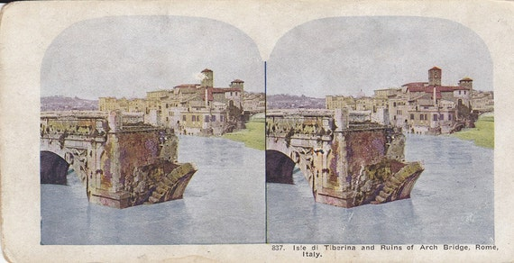 Italy Stereoview Card from Early 1900s-105