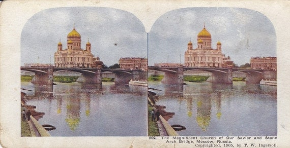 Russia Stereoview Card from Early 1900s-136