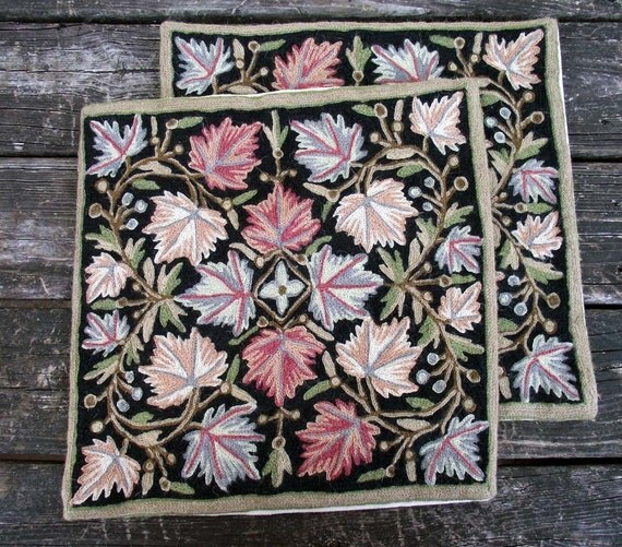 Vintage Needle Work Pillow Covers