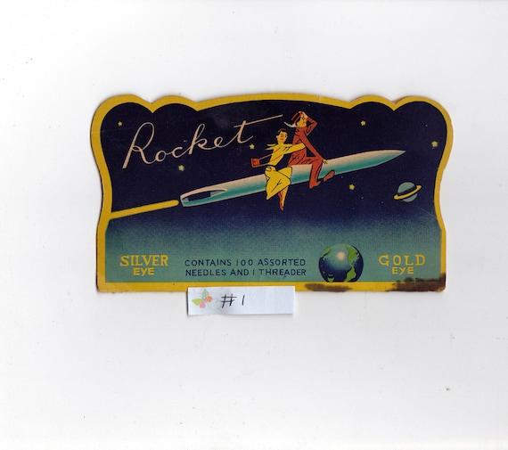 Vintage Rocket Needle Book From Japan Number 1