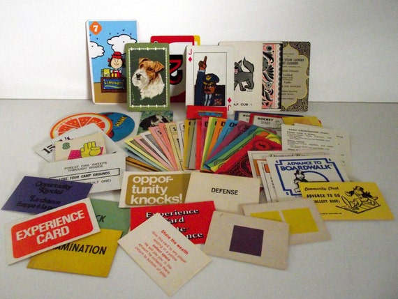 Vintage Playing Cards, Game Cards, and Paper Money  Mixed Lot For All You Crafting Needs Over 50 PIeces