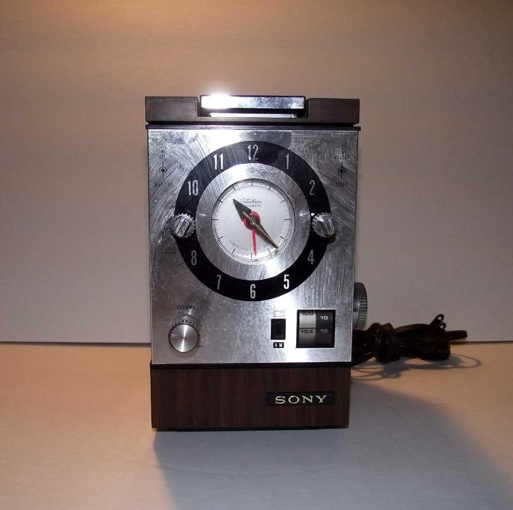 Sony Cube Clock Radio Retro Vintage by RetroVintageBazaar ...