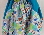 Child's Play Mat & Bag with Drawstring - happy neighborhood