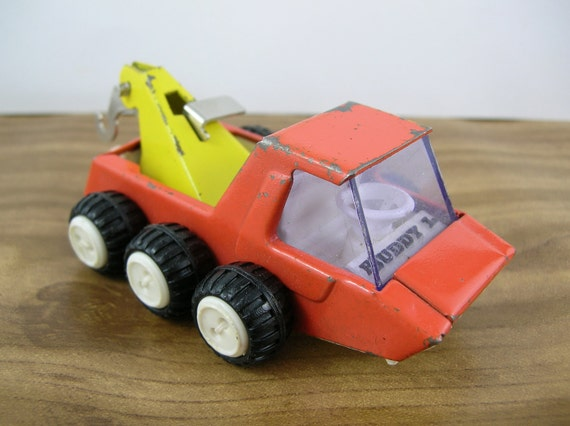 Vintage Buddy L Truck  Lunar Moon Dune Buggy Toy Metal Tow Car Made in Japan Retro Mod Space Age Sputnik Atomic 1970s 1960s 70s 60s Fall