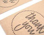 Thank You Gift Tags - Wedding Favor Tags - Gift Favor - Brown Kraft Hang Tags - Appreciation