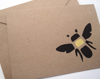 Bumble Bee Note Cards - Honey Bee - Blank Stationery