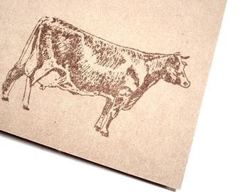 Dairy Cow Note Cards - Vintage - Country Farm Animal - Blank Stationery