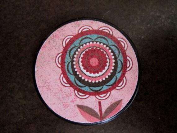 Flower Pendant  custom drilled 1.5 inch Pendant Floral Modern