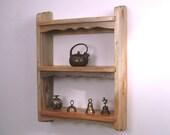Rustic French Farm Wood Curio Wall Shelf -Primitive Country Style Log Cabin Furniture Decor-Beetle Kill Pine 100% Colorado-sourced