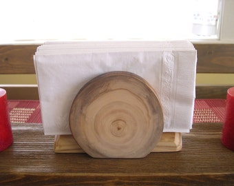Aspen Log Napkin Holder No1