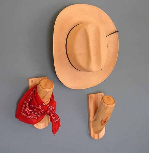 Drapery Swag Hooks/ Window Scarf/ Curtain Holder/ or Hat Hooks - 1 pair Rustic Log Hooks - Log Cabin Decor Window Treatment