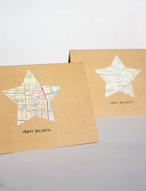 Holiday Cards - set of 6 with envelopes and seals