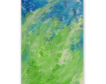 Original painting, 'Meadow 1', ACEO, abstract painting, tiny, acrylic, miniature