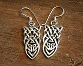 Celtic Knotwork - Earrings . Sterling Silver