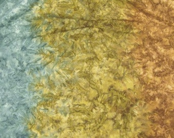 Ombre Batik - Shades of Rust/Blue/Khaki - by the yard