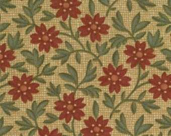 Moda Fabrics - 9272-13 - Kansas Troubles - Vine Creek - Bramble - Straw