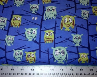 Michael Miller - DS4714 - A Tammis Keefe Tribute - Hoot - Blue -  1 yard