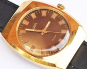Mens watch, men watch Luch, gold covered
