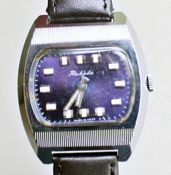 Vintage Russian mechanical wristwatch Raketa from Soviet Union period