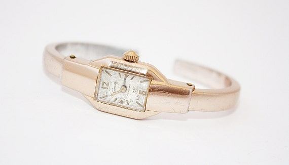 RAREST Ladies bracelet wrist watch Slava from Russia Soviet Union era gold color watch bracelet