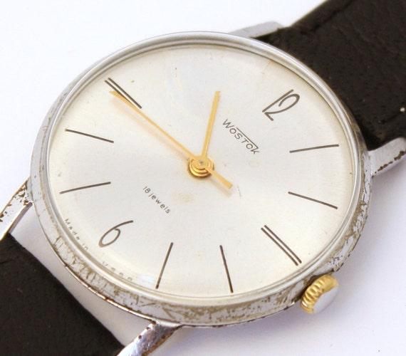 Mens wristwatch Vostok from Russia Soviet Union era mens wristwatch