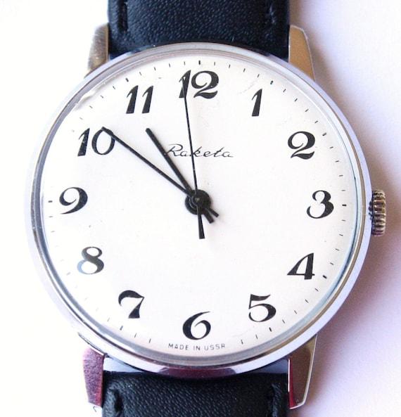 Vintage watch Raketa, mechanical watch, Soviet wrist watch