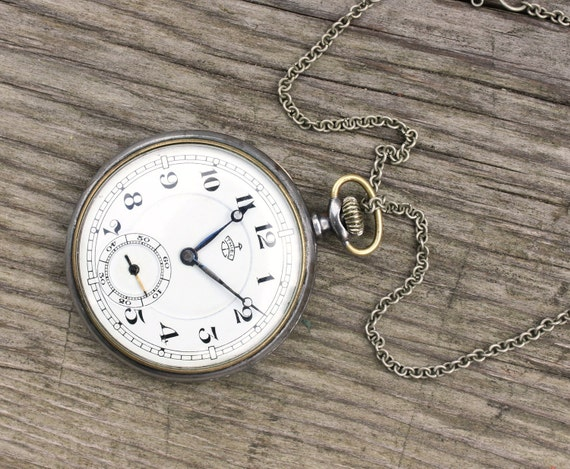 RARE Antique German pocket watch Thiel Alpina movement