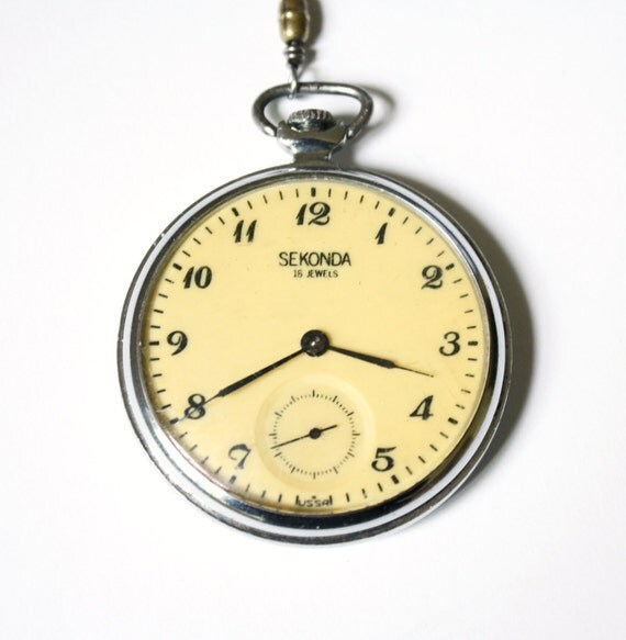 Vintage pocket watch Sekonda from Russia Soviet Union era
