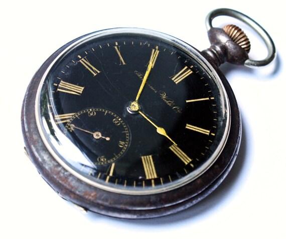 RARE Antique Swiss Pocket Watch Tavannes watch Co Cyma