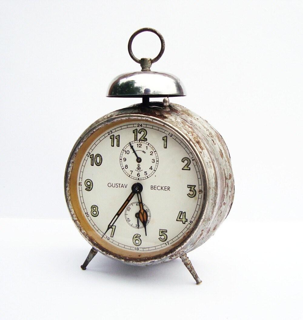 Antique German alarm clock Gustav Becker