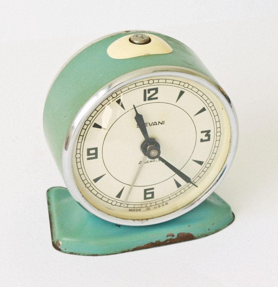 Vintage mechanical alarm clock Sevani from Armenia Soviet